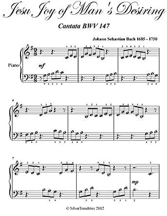 Jesu Joy of Man's Desiring Bach Beginner Piano Sheet Music eBook