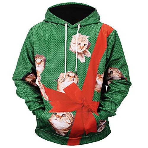 kksun 3D niedlichen Haustier Katze Tier gedruckt Pullover mit Kapuze Frauen Männer Unisex Paare Plus Größe Herbst Winter Langarm mit Pocket Top - Kostüm Paare Plus Größe
