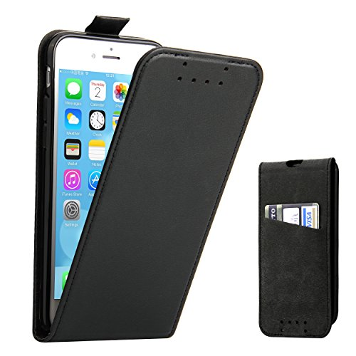 Custodia iPhone 7 - SUPAD® Ultra sottile Custodia Flip Case In Pelle per Apple iPhone 7/8 4,7 (Nero) Nero