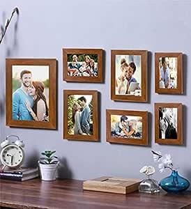 Art Street - Galaxy 7 Individual Brown Photo Frame Frames (Mix Size) 8x10, 5x7, 4x6, 8x6
