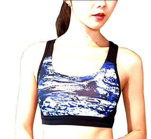 Lotus Instyle Femmes Sports Bras Push Up Bra forte attente Bra blue