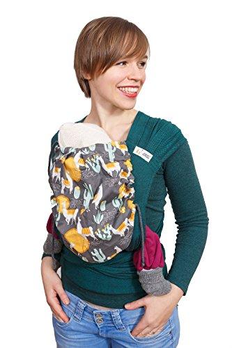 Madame Jordan Wrap Conversion Mei Tai 'Lama' - Tragehilfe ab Geburt bis ca. 2 Jahre, Ergonomische Tragehilfe für Bauch, Rücken, Hüfte