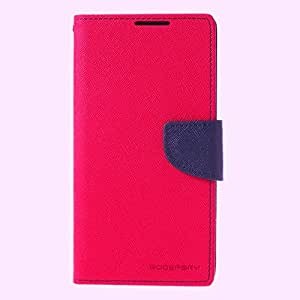 Mercury GOOSPERY Fancy Diary Leather Case Flip Cover Stand for Sony Xperia Z2 D6502 D6503 -Rose/ Blue