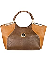 LB- Hand Bag For Women And Girls Durable Spacious Designer Handbags With Multi Compartments Tan Brown,LB-387