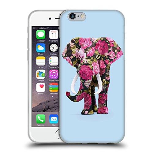 Offizielle Paul Fuentes Albino Löwe Tiere 2 Soft Gel Hülle für Apple iPhone 6 / 6s Blument Elefante