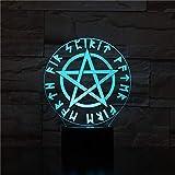 3D Nachtlichter, 3D Israel Flagge Geometrie Hexagon Led Nachtlicht Usb Tischlampe Nachttisch...