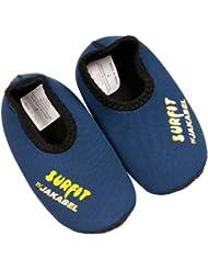 SURFIT Kid's Swim - Zapatos de natación para niño, tamaño 6 - 12 Meses, color navy / amarillo