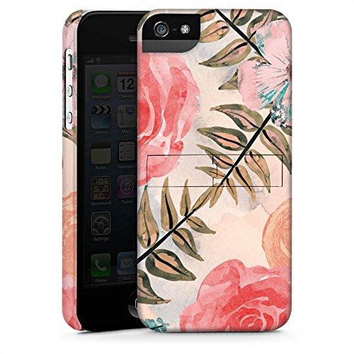 Apple iPhone X Silikon Hülle Case Schutzhülle Flower Vintage Blätter Premium Case StandUp
