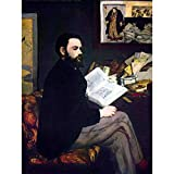 Wee Blue Coo Prints MANET PORTRAIT OF EMILE ZOLA OLD MASTER ART PAINTING PRINT 12x16 inch 30x40cm POSTER ART Porträt Alter Meister Farbe