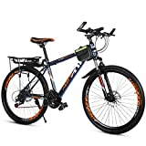 GRXXX Bicycle 21 Speed Double Disc Brakes Speed Mountain Bike Adult Student Car