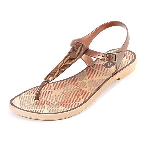 a70dfb4c32cb Grendha Women s Romantic Plastic Toe Post Buckle Sandal Bronze-Bronze-4 Size  4