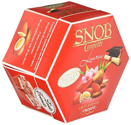 Crispo confetti snob lieto evento - colore rosso - 4 confezioni da 500 g [2 kg]
