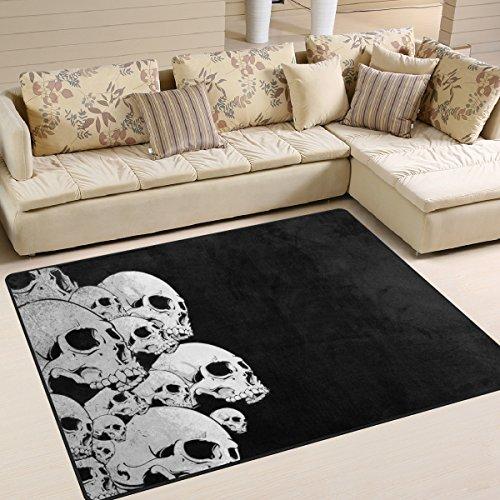 ingbags Super Weich Modern Skull, ein Wohnzimmer Teppiche Teppich Schlafzimmer Teppich für Kinder Play massiv Home Decorator Boden Teppich und Teppiche 160x 121,9cm, multi, 80 x 58 Inch