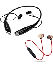 GO MANTRA HBS-730 Neckband Bluetooth Headphones Earphone Wireless Headset with Bluetooth Magnetic Earphones for Mobile, Stereo Wireless (Color May Vary)