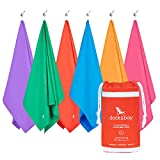Dock & Bay Microfibre Towel - Travel & Outdoors (Coral Red - Large 160x80cm) - lightweight travel towel compact