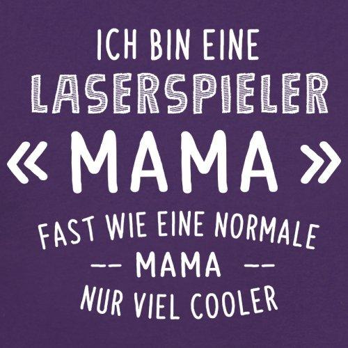 Ich bin eine Laserspieler Mama - Damen T-Shirt - 14 Farben Lila