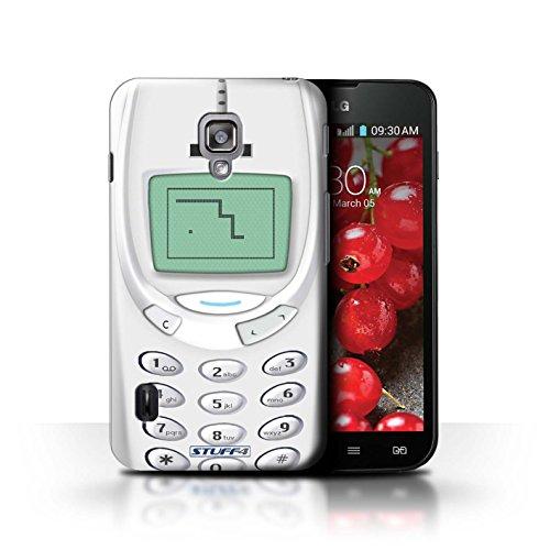 Kobalt® Imprimé Etui / Coque pour LG Optimus L7 II Dual / Nokia 3310 jaune conception / Série Portables rétro Nokia 3310 blanc