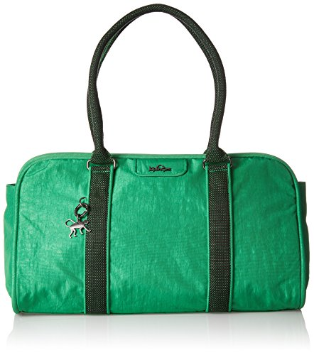 Kipling Damen Bex Henkeltasche, Grün (Wild Greeny), 44x27x20 cm (Greenies Große)