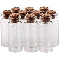 TININNA 10 pcs pequeño Mini tarros de cristal botellas frascos con tapones de corcho/mensaje/deseo de fiesta de bodas