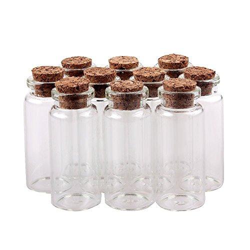 TININNA 10 pcs pequeño Mini tarros de cristal botellas frascos con ta