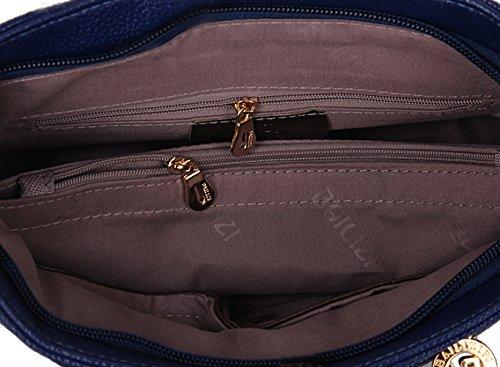 Sacchetto di cuoio dell'unità di elaborazione del sacchetto quadrato selvaggio casuale del sacchetto del messaggero delle signore del sacchetto di spalla di colore semplice. Gold