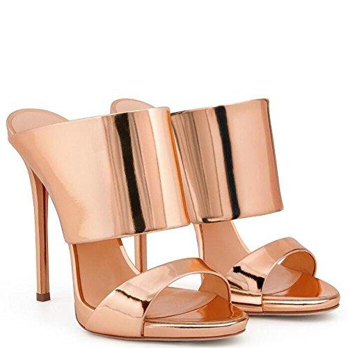 L@YC Pattini Freddi alti Dell'alto Tallone Delle Donne Scarpe Da Ufficio Eleganti Di Lusso Del Vestito Da Cerimonia Nuziale Di Cerimonia Nuziale Di Lusso Gold