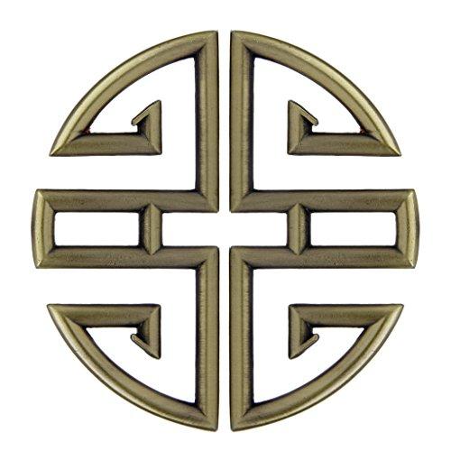 1 Paar Chinesische Traditionelle Günstig Muster Design Kabinett Tür Handle Schublade Ziehen Knöpfe - Traditionelle Schublade Ziehen