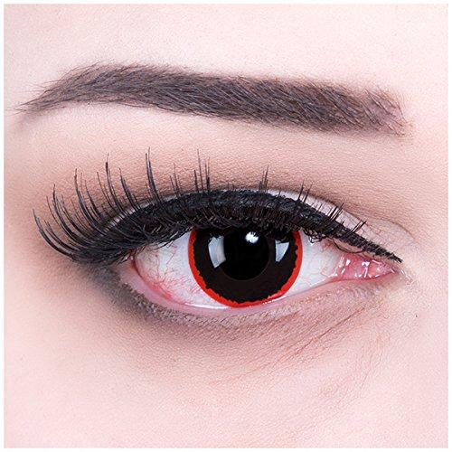 Meralens A0453 Exorcism Kontaktlinsen mit Behälter ohne Stärke, 1er Pack (1 x 2 Stück)