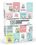 16x Kinder Kinder Geburtstag Karten von Joy masterstm Vol. 4| niedliche Eulen.