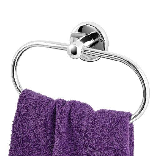 bremermann® Anneau de serviette de bain de la gamme pour salle de bains LUCENTE en inox chromé