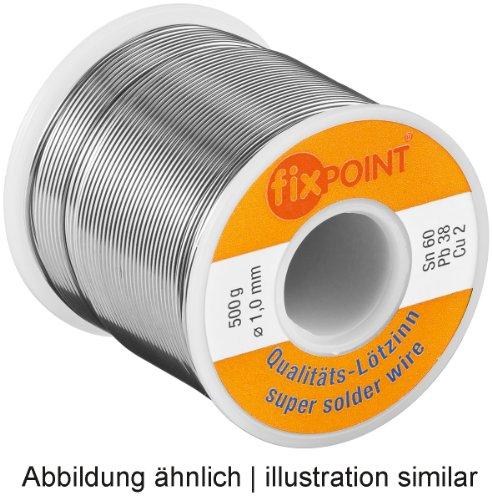 Lötzinn ø 1,0 mm 250 g Spule Material: L-Sn 60%/ Pb 38%/ Cu 2%