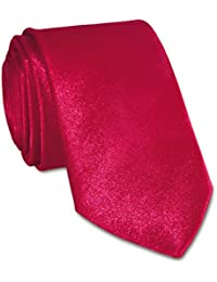 niki-orange® Skinny Krawatte 5 cm Schlips Krawatten in verschiedenen Farben