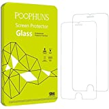 Cristal Templado iPhone 6 Plus 6s Plus, POOPHUNS 2-Pack, Protector Pantalla iPhone 6 Plus 6s Plus, Protector Cristal Vidrio Templado Premium para iPhone 6 Plus 6s Plus, 3D Touch Compatibles, Ultra Resistente a Golpes y Rayado, Alta Transparencia, Sin burbujas
