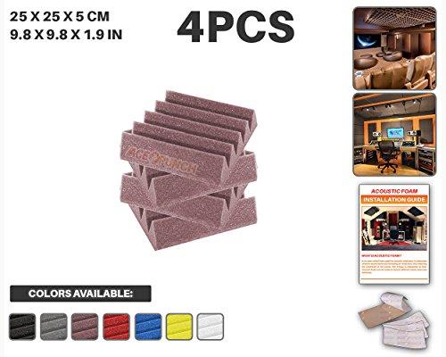 ace-punch-4-pieces-bourgogne-wedge-studio-foam-panel-isolation-sonore-traitement-acoustique-isolatio