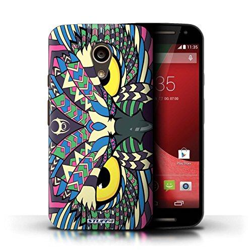 Kobalt® Imprimé Etui / Coque pour Motorola Moto G (2014) / Singe-Sépia conception / Série Motif Animaux Aztec Hibou-Couleur