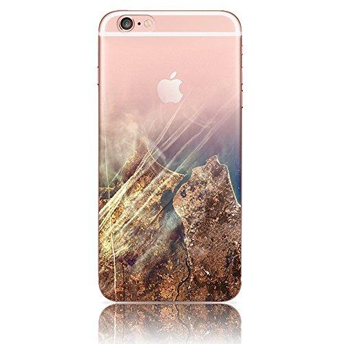iPhone 6 Plus Cover, Bonice iPhone 6S Plus Custodia (5.5), Ultra Slim Thin Morbido TPU Clear Trasparente Animale Cat Case Custodia 08