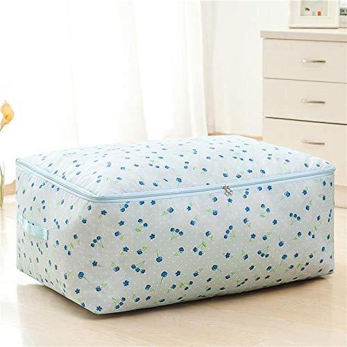 Bettwäscheaufbewahrungstasche, bewegend, gebildet vom besseren, bequemen und geruchlosen Gewebe 3 Arten Größe Blaue Kirsche 70x50x30cm - Premium Pack Bettwäsche-set