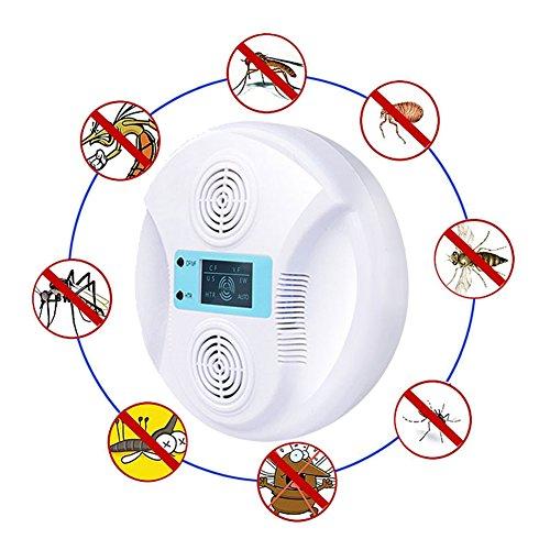 DWSD6 Ultraschallmoskito-Insektenabwehrmittel-elektronische Schädlings-Insekten, Die Insekten-Fledermaus-Falke-Gecko-Insektenabwehr-Artefakt-Innenweiß 15 * 15 * 7cm Fliegen -
