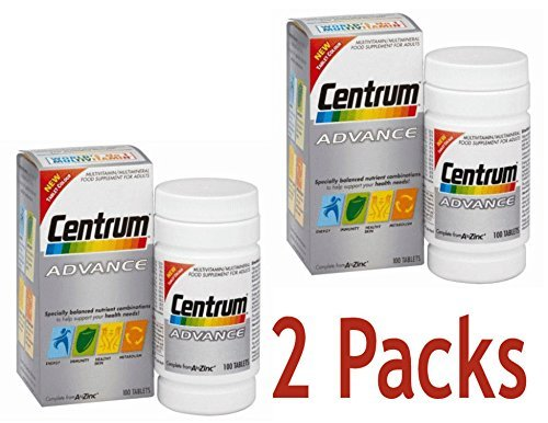 2 Packs Of Centrum Advance 100 tablets = TOTAL 200 Tablets -