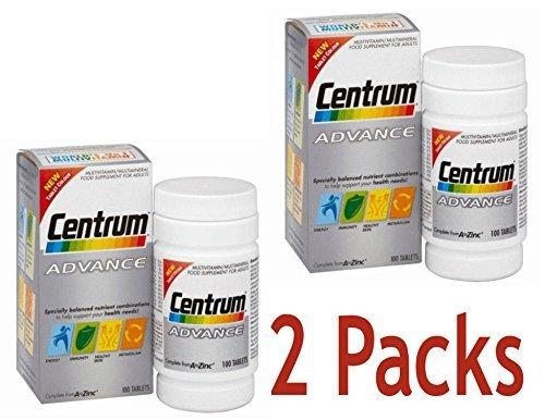 2 Packs Of Centrum Advance 100 tablets = TOTAL 200 Tablets