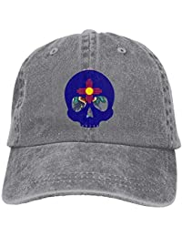 VTXWL Totem Fox Design Unisex Washed Adjustable Fashion Cowboy Hat Denim Baseball Caps
