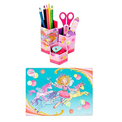 Prinzessin Lillifee 2er Set 12805 12967 Schreibtischauflage & Stifteköcher