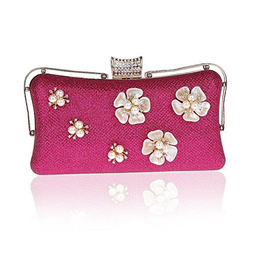 Moda fiore borsa da sera/ strass Party Pack/Pochette-D D