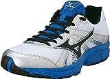 MIZUNO Wave Crusader 8 Zapatilla de Running Caballero, Blanco/Negro/Azul, 44