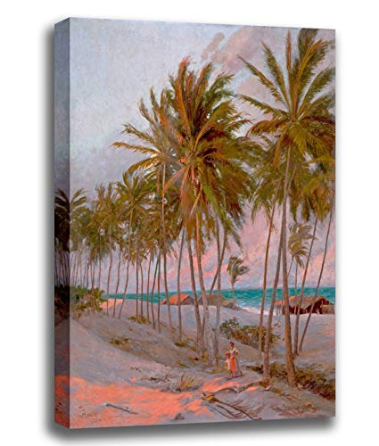 Price comparison product image ODSAN Canvas Print Wall Art - Beach In Fortaleza - Aurélio Figueiredo - Giclee Printed on Stretched Gallery Wrap - 12x15 inch