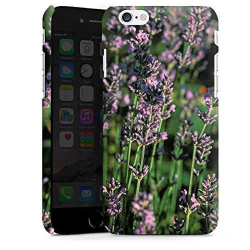Apple iPhone X Silikon Hülle Case Schutzhülle Lavendel Blumen Natur Premium Case matt
