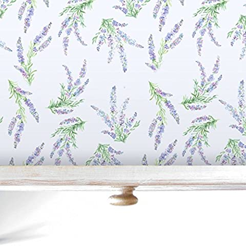 Lavender Luxury Drawer and Shelf Liners, 5 Scented Rolled Sheets.