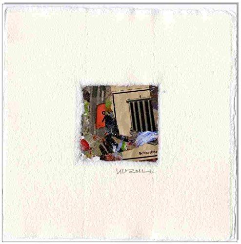 Original Collage (Original Collage auf Karton: Collage No.12 / 10x10 cm)