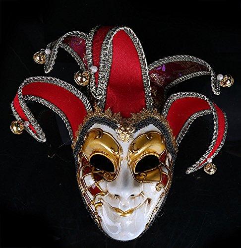 K&C Kostüm Maske Halloween Maskerade Elegante Glitzer Augenmasken Joker Maske (Nonne Kostüm Beängstigend)