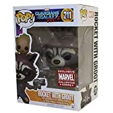 FunKo Pop ! 211 - Guardians of The Galaxy Vol 2 - Rocket with Groot - Exclusive Marvel Collection Corps